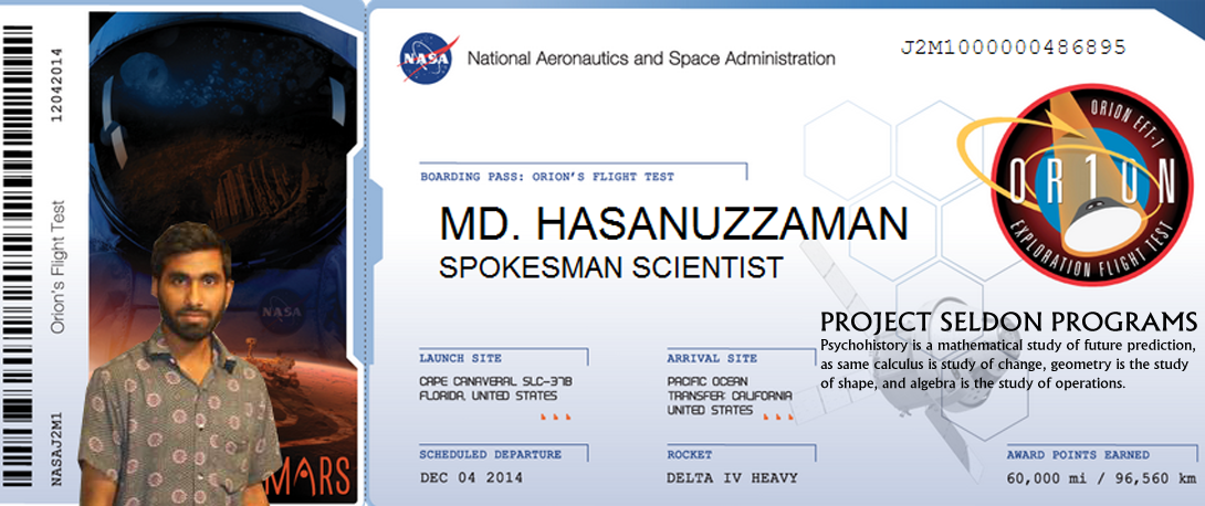 Hasanuzzaman Hasanuzzaman, also spelling for Hasan Uz-Zaman is student from Harvard, MIT and University of Queensland, and also Bangladesh University of Professionals is a Spokesman of the Project Seldon Programs. Author of many scientific books.